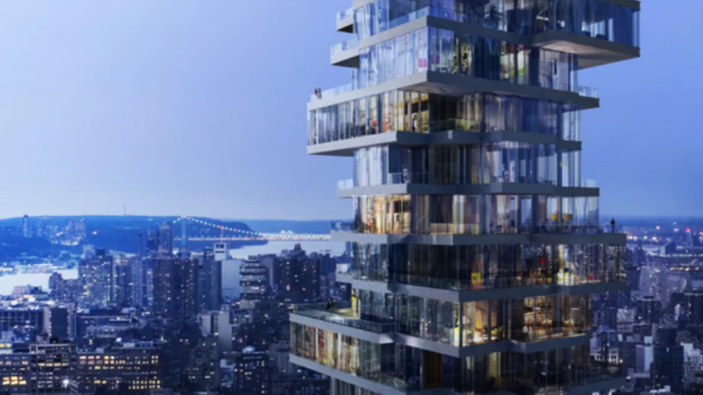 Penthouse of celebrity-packed 'Jenga Building' sells for $50M