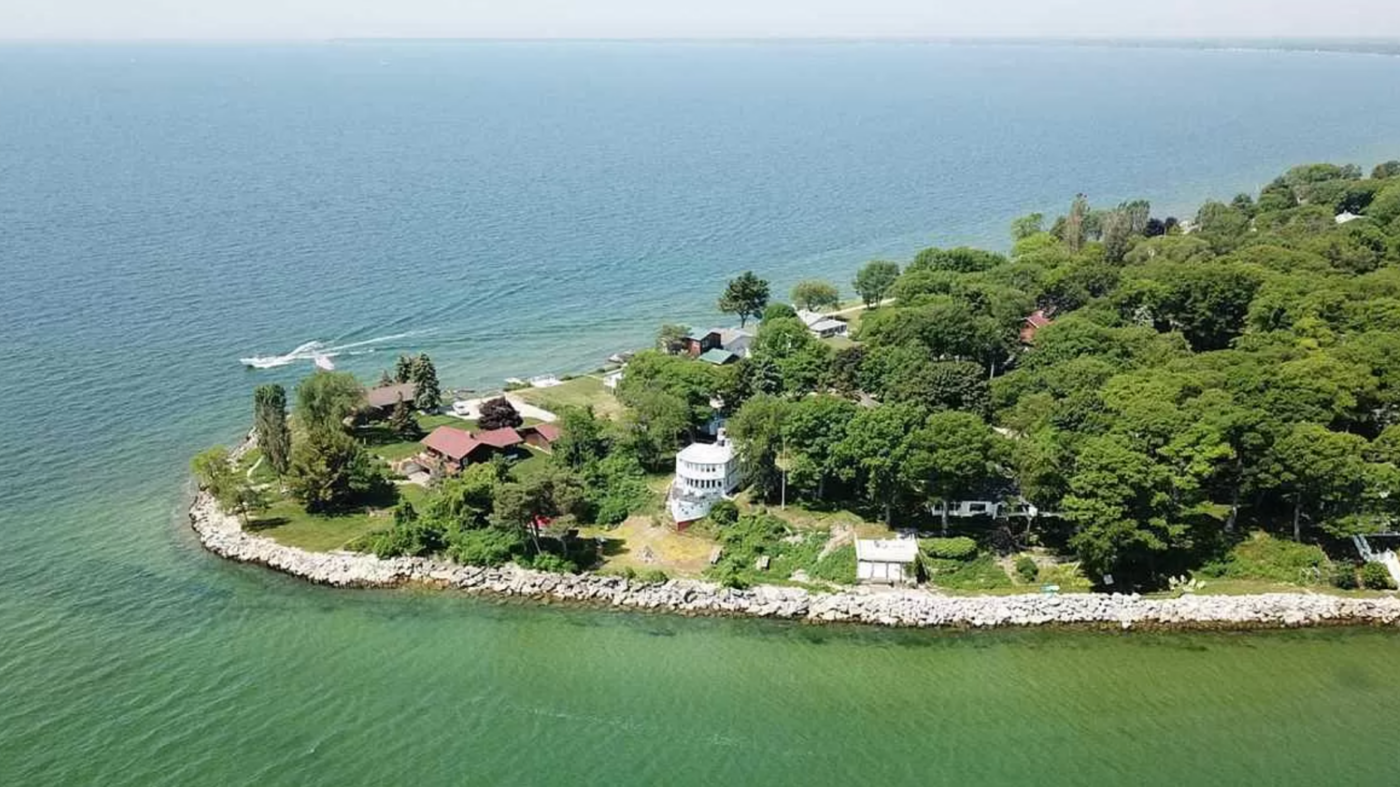 A houseboat that can't sail is for sale in Michigan