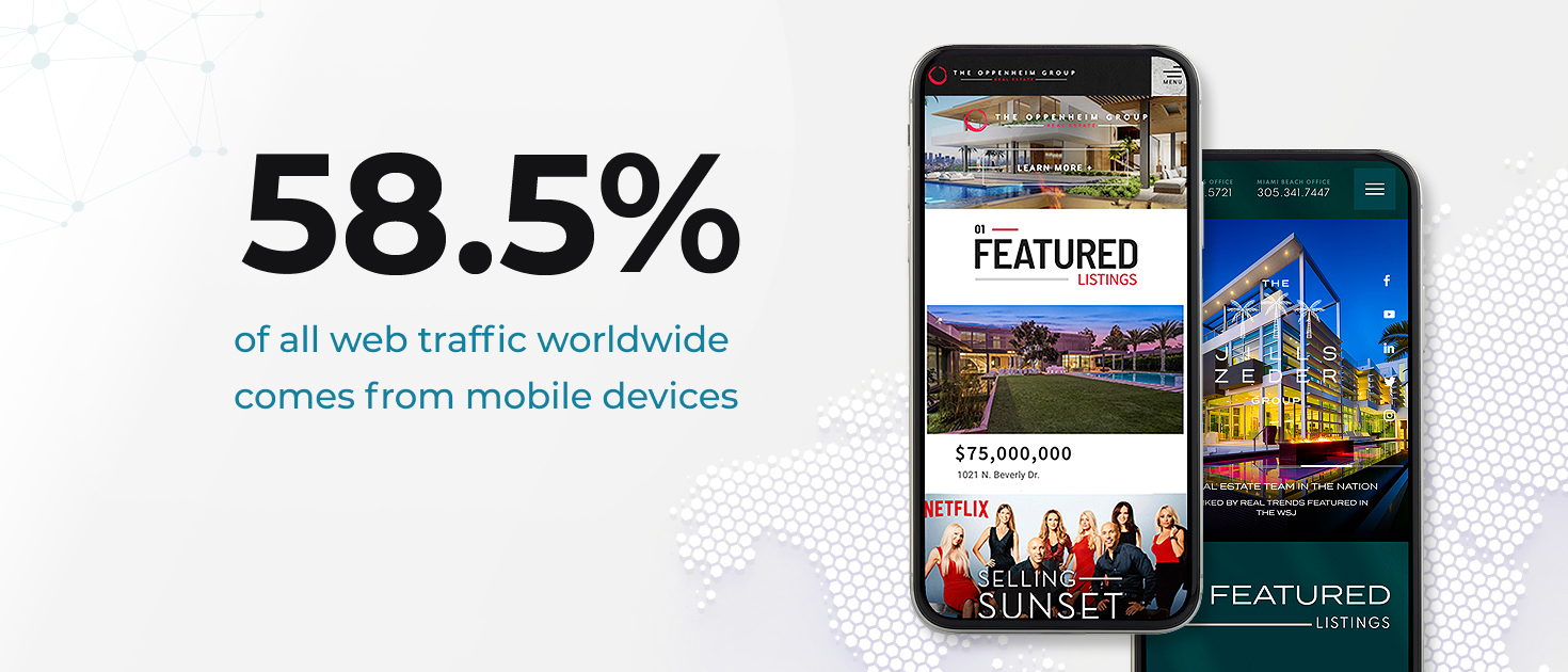 58.5% of web traffic comes from mobile deviices