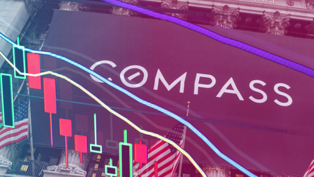 Compass stock, market cap tumbles to new low