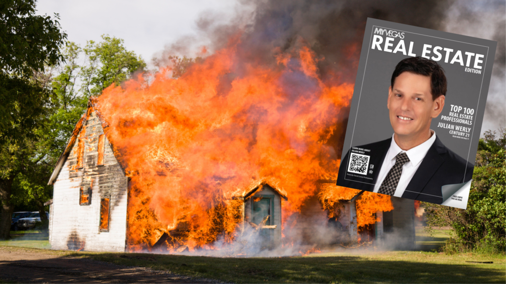 Top Las Vegas agent charged with setting his own home on fire